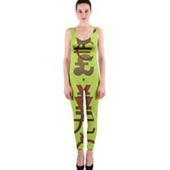 Set Of Monetary Symbols Onepiece Catsuit by Amaryn4rt