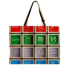 Set Of The Twelve Signs Of The Zodiac Astrology Birth Symbols Mini Tote Bag by Amaryn4rt