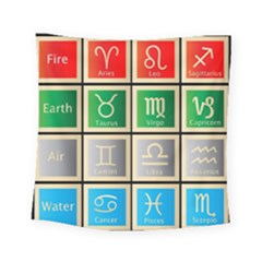 Set Of The Twelve Signs Of The Zodiac Astrology Birth Symbols Square Tapestry (small) by Amaryn4rt