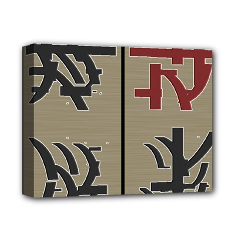 Xia Script On Gray Background Deluxe Canvas 14  X 11  by Amaryn4rt