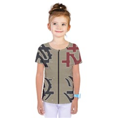 Xia Script On Gray Background Kids  One Piece Tee by Amaryn4rt