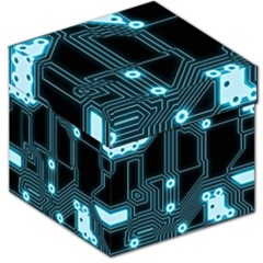 A Completely Seamless Background Design Circuitry Storage Stool 12   by Amaryn4rt