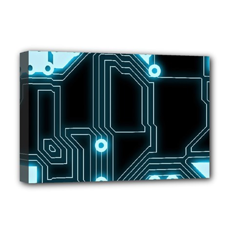 A Completely Seamless Background Design Circuitry Deluxe Canvas 18  X 12   by Amaryn4rt