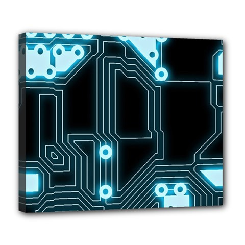 A Completely Seamless Background Design Circuitry Deluxe Canvas 24  X 20   by Amaryn4rt