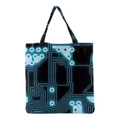 A Completely Seamless Background Design Circuitry Grocery Tote Bag by Amaryn4rt