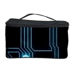 A Completely Seamless Background Design Circuitry Cosmetic Storage Case by Amaryn4rt