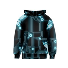 A Completely Seamless Background Design Circuitry Kids  Pullover Hoodie by Amaryn4rt