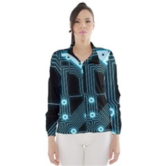 A Completely Seamless Background Design Circuitry Wind Breaker (women) by Amaryn4rt