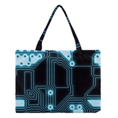 A Completely Seamless Background Design Circuitry Medium Tote Bag by Amaryn4rt
