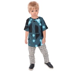 A Completely Seamless Background Design Circuitry Kids  Raglan Tee by Amaryn4rt