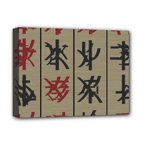 Ancient Chinese Secrets Characters Deluxe Canvas 16  X 12   by Amaryn4rt