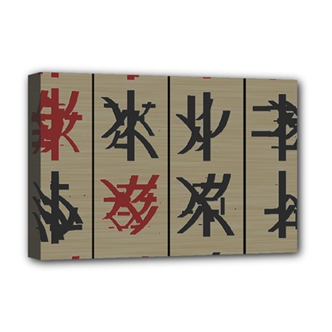 Ancient Chinese Secrets Characters Deluxe Canvas 18  X 12   by Amaryn4rt