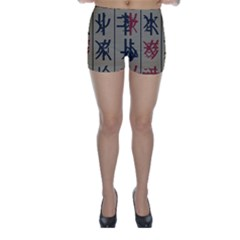 Ancient Chinese Secrets Characters Skinny Shorts by Amaryn4rt