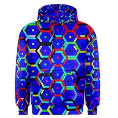 Blue Bee Hive Pattern Men s Pullover Hoodie by Amaryn4rt