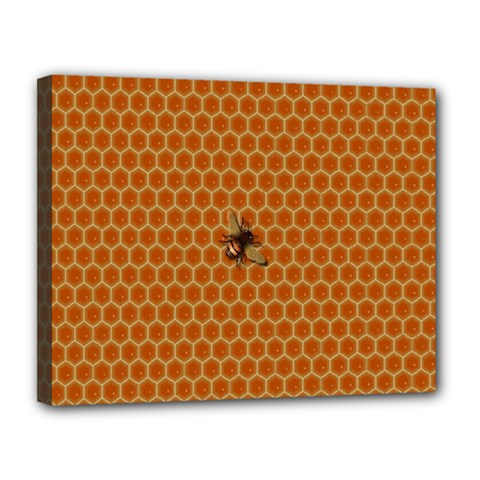 The Lonely Bee Canvas 14  X 11  by Amaryn4rt