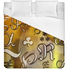 Symbols On Gradient Background Embossed Duvet Cover (king Size) by Amaryn4rt