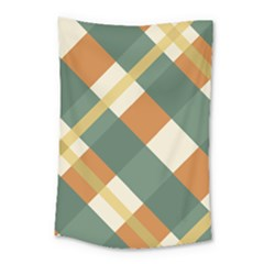 Autumn Plaid Small Tapestry by Alisyart