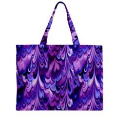 Purple Marble  Zipper Mini Tote Bag by KirstenStar