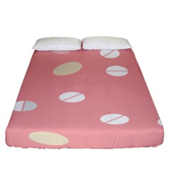 Drug Pink Fitted Sheet (king Size) by Alisyart