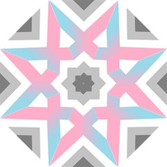 Flag X Blue Pink Grey White Chevron Folding Umbrellas by Alisyart