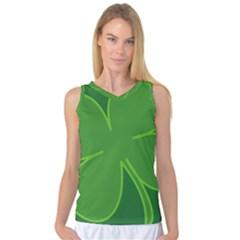 Leaf Clover Green Women s Basketball Tank Top by Alisyart