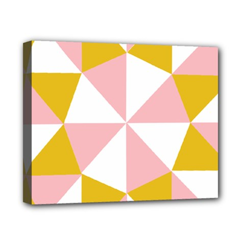 Learning Connection Circle Triangle Pink White Orange Canvas 10  X 8  by Alisyart