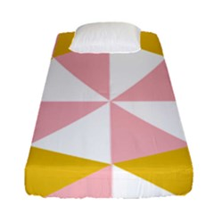 Learning Connection Circle Triangle Pink White Orange Fitted Sheet (single Size) by Alisyart
