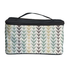 Leaf Triangle Grey Blue Gold Line Frame Cosmetic Storage Case