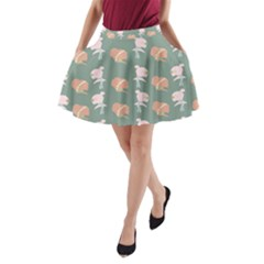 Lifestyle Repeat Girl Woman Female A Line Pocket Skirt by Alisyart