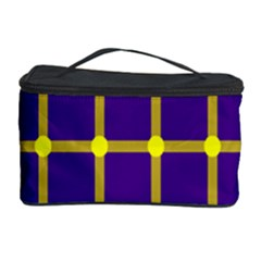 Optical Illusions Circle Line Yellow Blue Cosmetic Storage Case by Alisyart