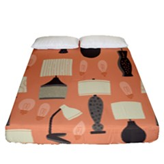 Lamps Fitted Sheet (queen Size) by Alisyart