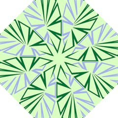 Starburst Shapes Large Green Purple Straight Umbrellas by Alisyart