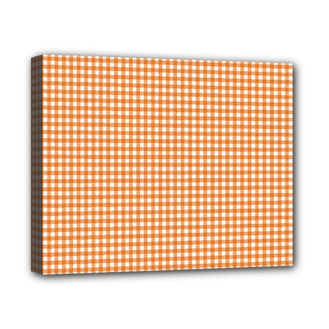 Orange Tablecloth Plaid Line Canvas 10  X 8  by Alisyart