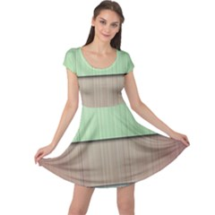 Modern Texture Blue Green Red Grey Chevron Wave Line Cap Sleeve Dresses by Alisyart