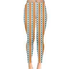 Sunflower Orange Gold Blue Floral Classic Winter Leggings by Alisyart