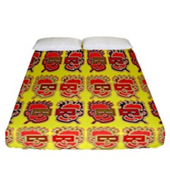 Funny Faces Fitted Sheet (california King Size) by Amaryn4rt