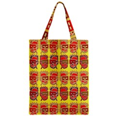 Funny Faces Zipper Classic Tote Bag by Amaryn4rt