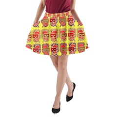 Funny Faces A Line Pocket Skirt by Amaryn4rt