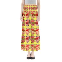Funny Faces Maxi Skirts by Amaryn4rt