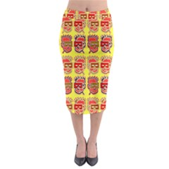 Funny Faces Midi Pencil Skirt by Amaryn4rt
