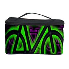 Bike Graphic Neon Colors Pink Purple Green Bicycle Light Cosmetic Storage Case by Alisyart