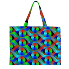 Bee Hive Color Disks Zipper Large Tote Bag by Amaryn4rt
