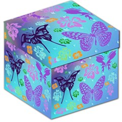 Butterfly Vector Background Storage Stool 12   by Amaryn4rt