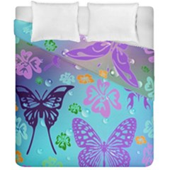 Butterfly Vector Background Duvet Cover Double Side (california King Size) by Amaryn4rt