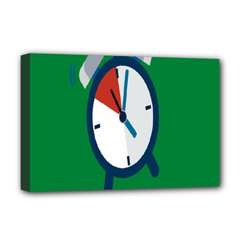 Alarm Clock Weker Time Red Blue Green Deluxe Canvas 18  X 12   by Alisyart