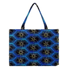 Blue Bee Hive Pattern Medium Tote Bag by Amaryn4rt