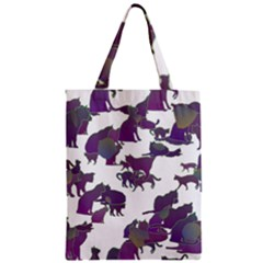 Many Cats Silhouettes Texture Classic Tote Bag by Amaryn4rt