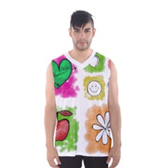 A Set Of Watercolour Icons Men s Basketball Tank Top by Amaryn4rt