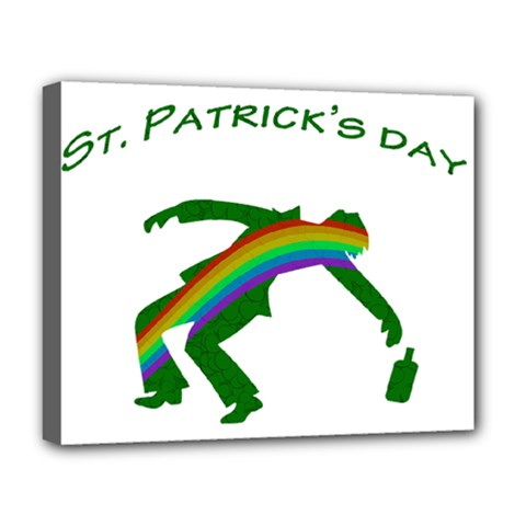 St  Patricks Deluxe Canvas 20  X 16   by Valentinaart