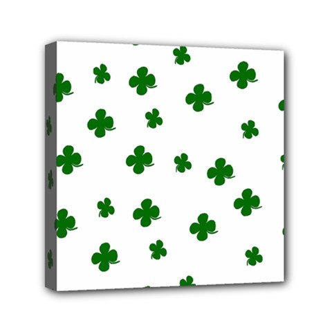 St  Patrick s Clover Pattern Mini Canvas 6  X 6  by Valentinaart